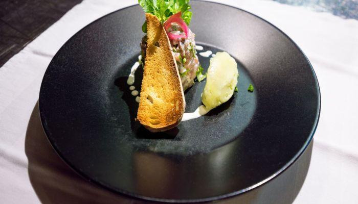 prato de alta gastronomia do St Barth Gourmet Festival