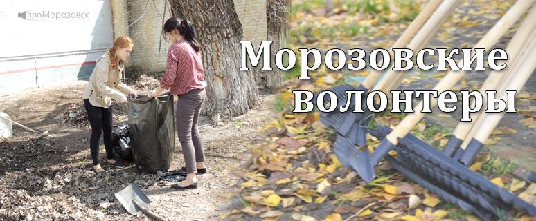 Волонтеры в Морозовске Ростовская область