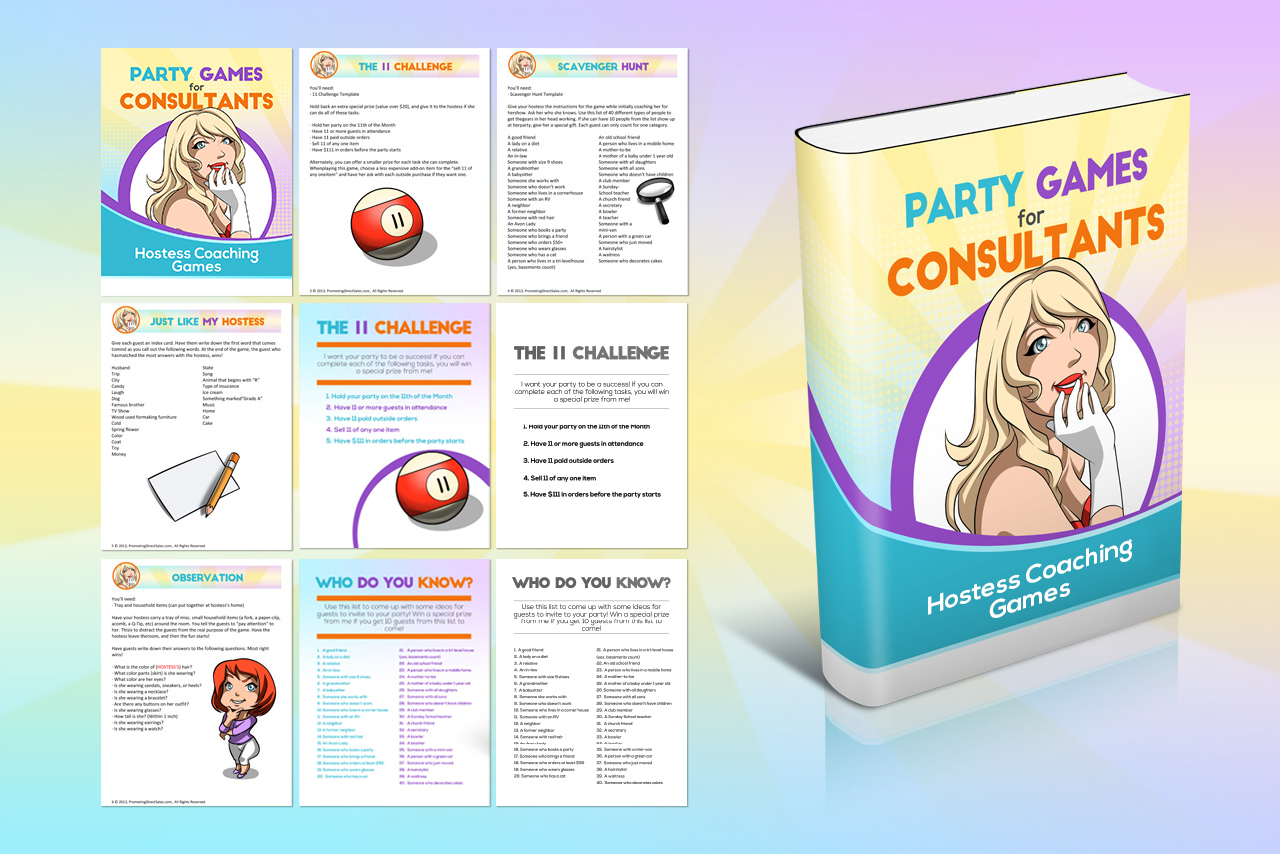 Party Games For Consultants Hostess Coaching Games