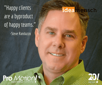 -Happy clients are a byproduct of happy
