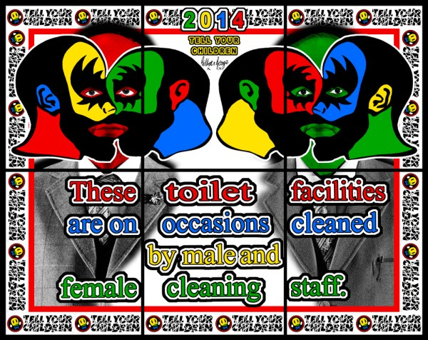 Tell Your Childern by Gilbert and George, 2015 via Arndt Fine Art