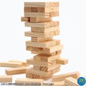 mini jenga tumbling wooden blocks