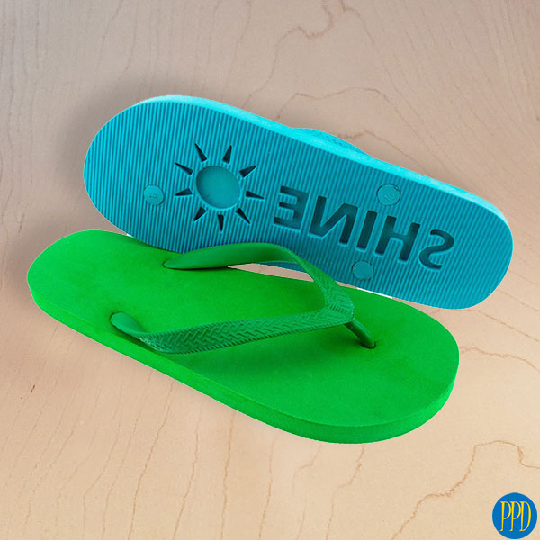 custom logo beach flip flop sandals