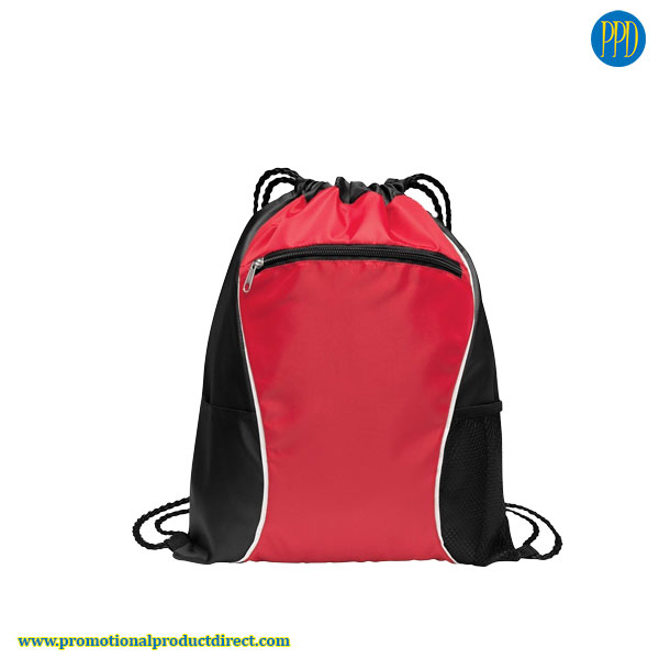 drawstring back pack and promotional product