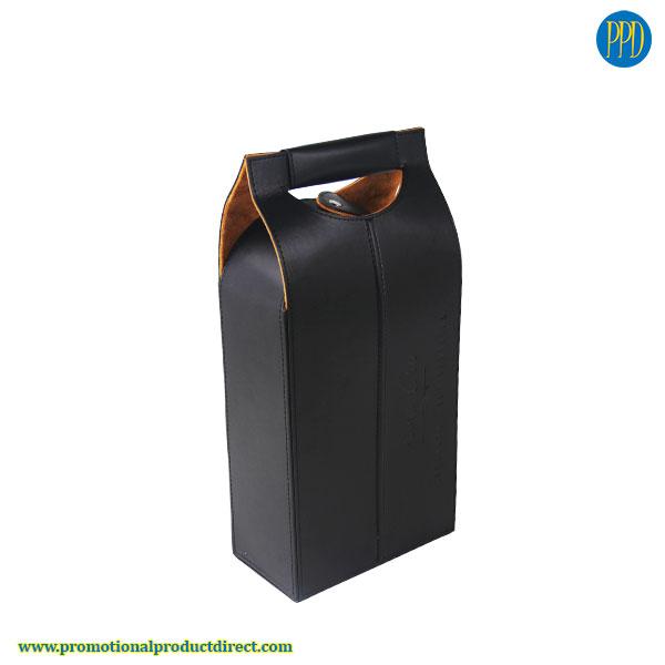custom leather wine case