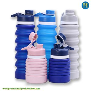 folding-reusable-silicone-water-bottle-with-spout-promotional-product-and-swag-pare
