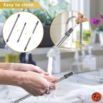 telescopic reusable drinking straw cleaner