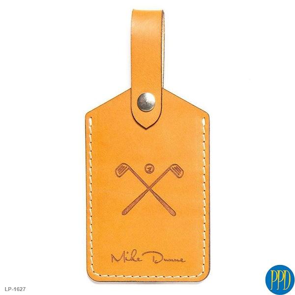 Custom leather luggage tags