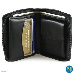 custom designed leather wallet