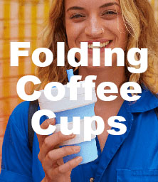 folding coffee cups promotional products