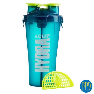 Blender bottle with 2 spouts