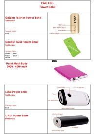Power Bank Calelog Two Cell