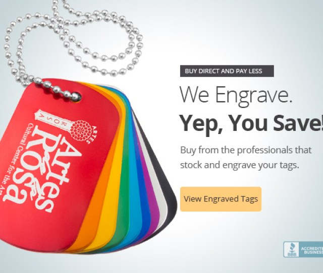 Customizable Laser Engraved Dog Tags