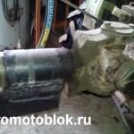 прицепное с крестовины карданного вала самодельный прицеп к мотоблоку Мотор Сич. 1