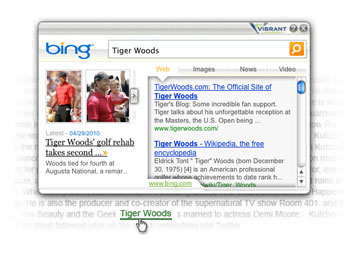 Vibrant Bing SERPs Pop Up