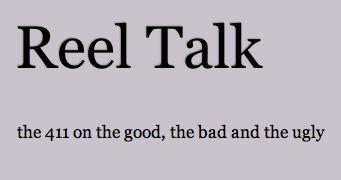 Reel Talk Logo