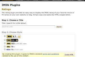 IMDb rating plugin