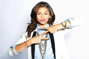 Zendaya Coleman Double Pease Sign
