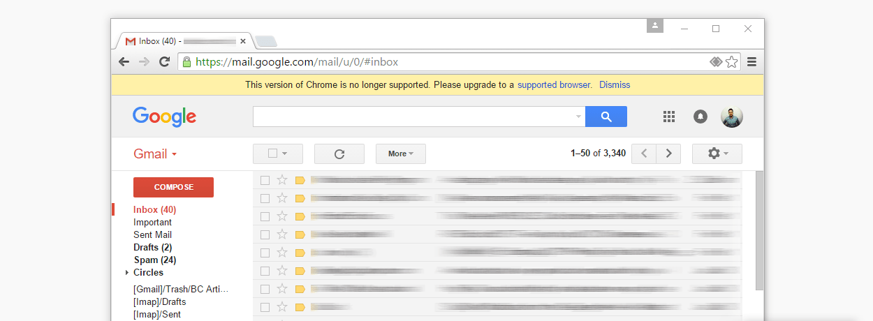 Gmail+Chrome users on XP/Vista are in for some hard times.
