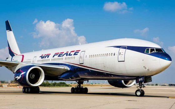 AIB says Air Peace plane tyres busted after landing