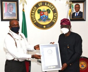 Anniversary Cupcakes: Sanwo-Olu Receives Guinness World Records Certificate