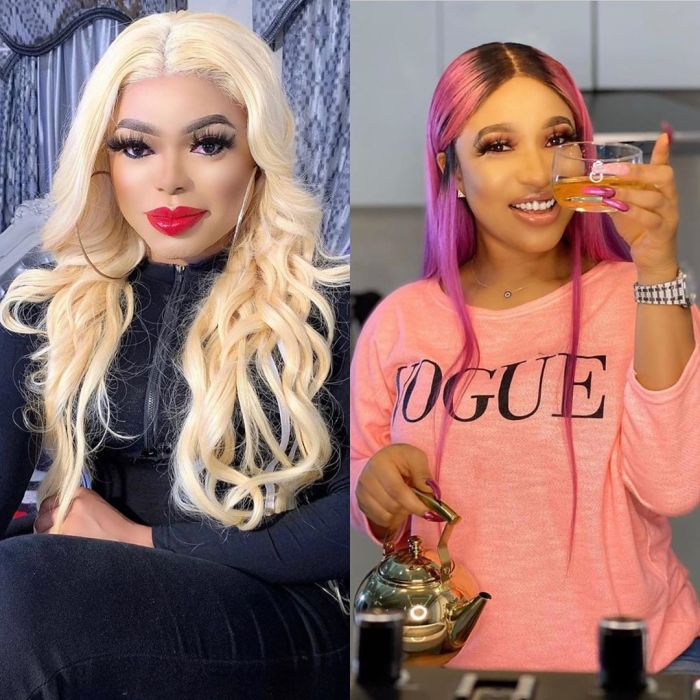 The newTonto Dikeis too busy for gossip and drama -Bobrisky says following Tonto's ex-husband, Churchill being married to actress Rosy Meurer