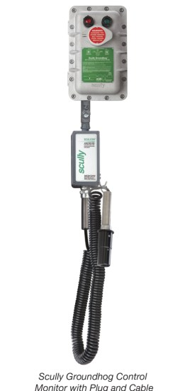 Scully Groundhog Control Monitor with Plug and Cable