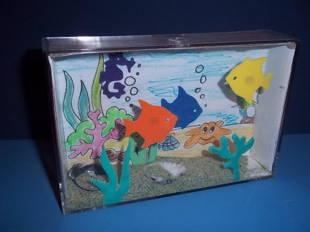 поделка аквариум с рыбками из коробки выяснял, какими еще