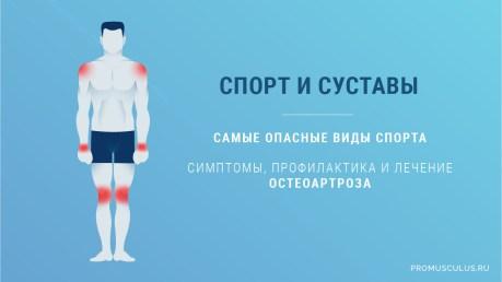 Спорт и суставы: риск заболеваний суставов у спортсменов, самые опасные виды спорта, симптомы, профилактика и лечение остеоартроза. Научные исследования