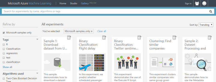Azure ML Gallery