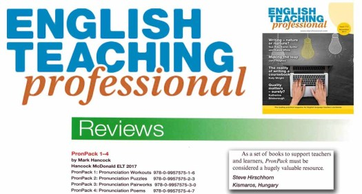 PronPack Review in English Teaching Professional