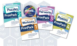 PronPack.com - books and ELTons Award finalist badge