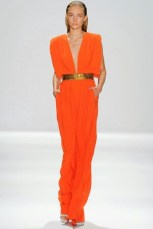 Gown-Orange-Gold-Belt-Carlos-Miele-Spring-2012-RTW-Style