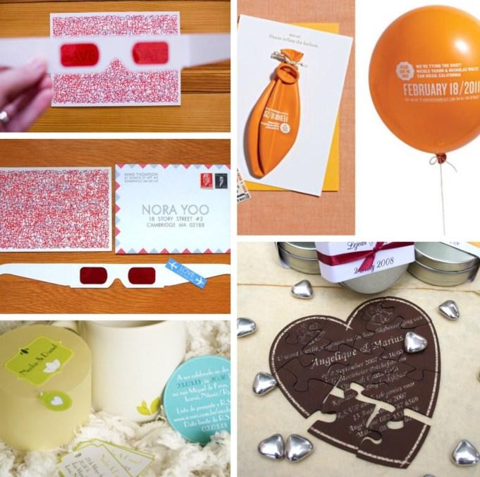 Para os ainda mais criativos: Convites em 3D (só dá pra ler com o óculos!); quebra-cabeças, balões e velas!