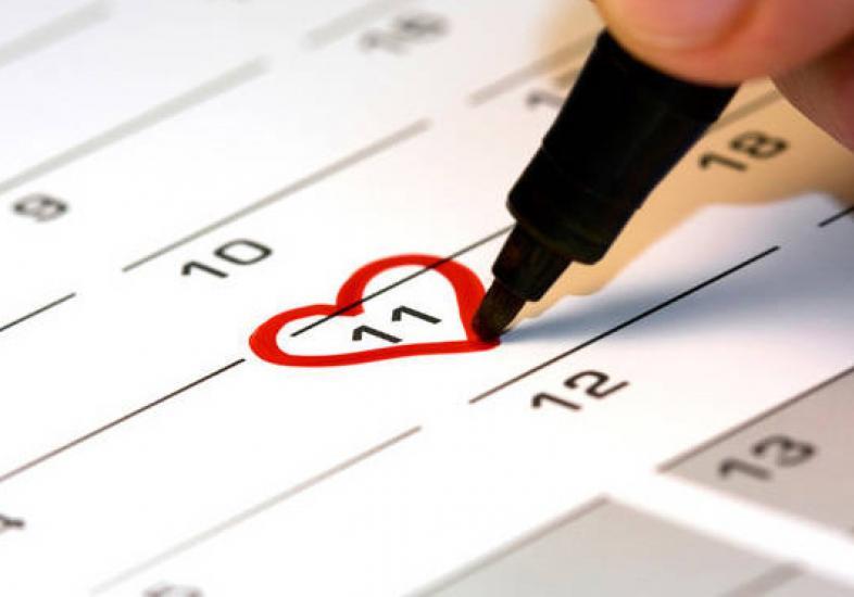 calendário de eventos de casamento