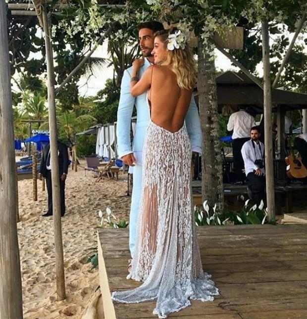 Casamento Gabriela Pugliesi e Erasmo Viana, na praia de Trancoso, Bahia.