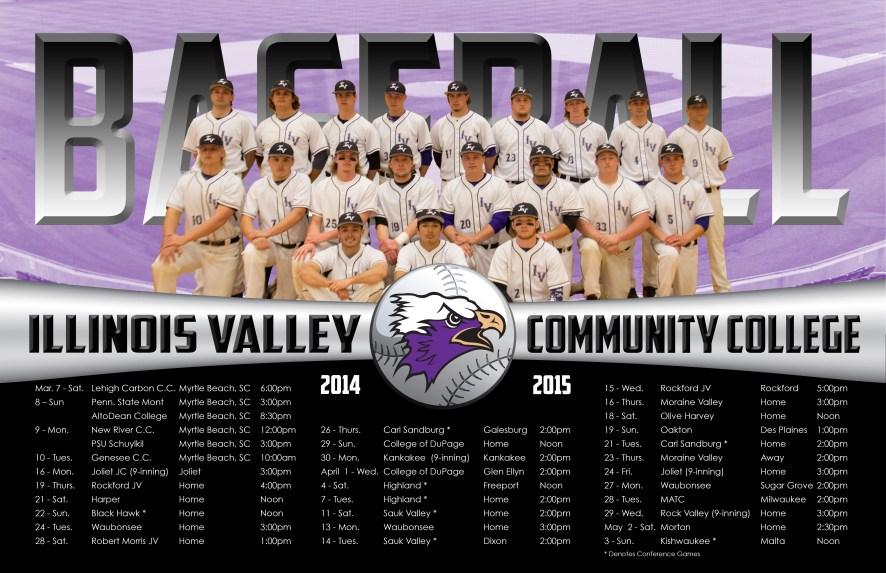 Baseball schedule poster