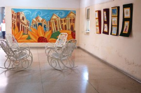 Espacio habilitado dentro del hospital psiquiátrico para las exposiciones