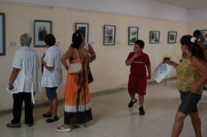 Exposición del artista Eridanio Sacramento dentro del hospital