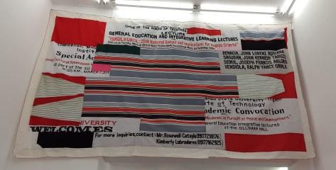 Gost Painting(Toldo Category)Apple, mixta sobre textil,288x456cm, 2015.