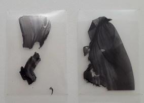 Cecilia de Val, Ruina #35, Ruina #25, Serie El Monte Perdido, Tinta pigmentada sobre acetato, 30x21cm (c/u)