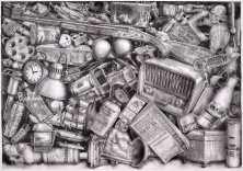 112. lápiz de acuarela sobre papel. 70 x 100 cm. 2012. ©Jairo Alfonso