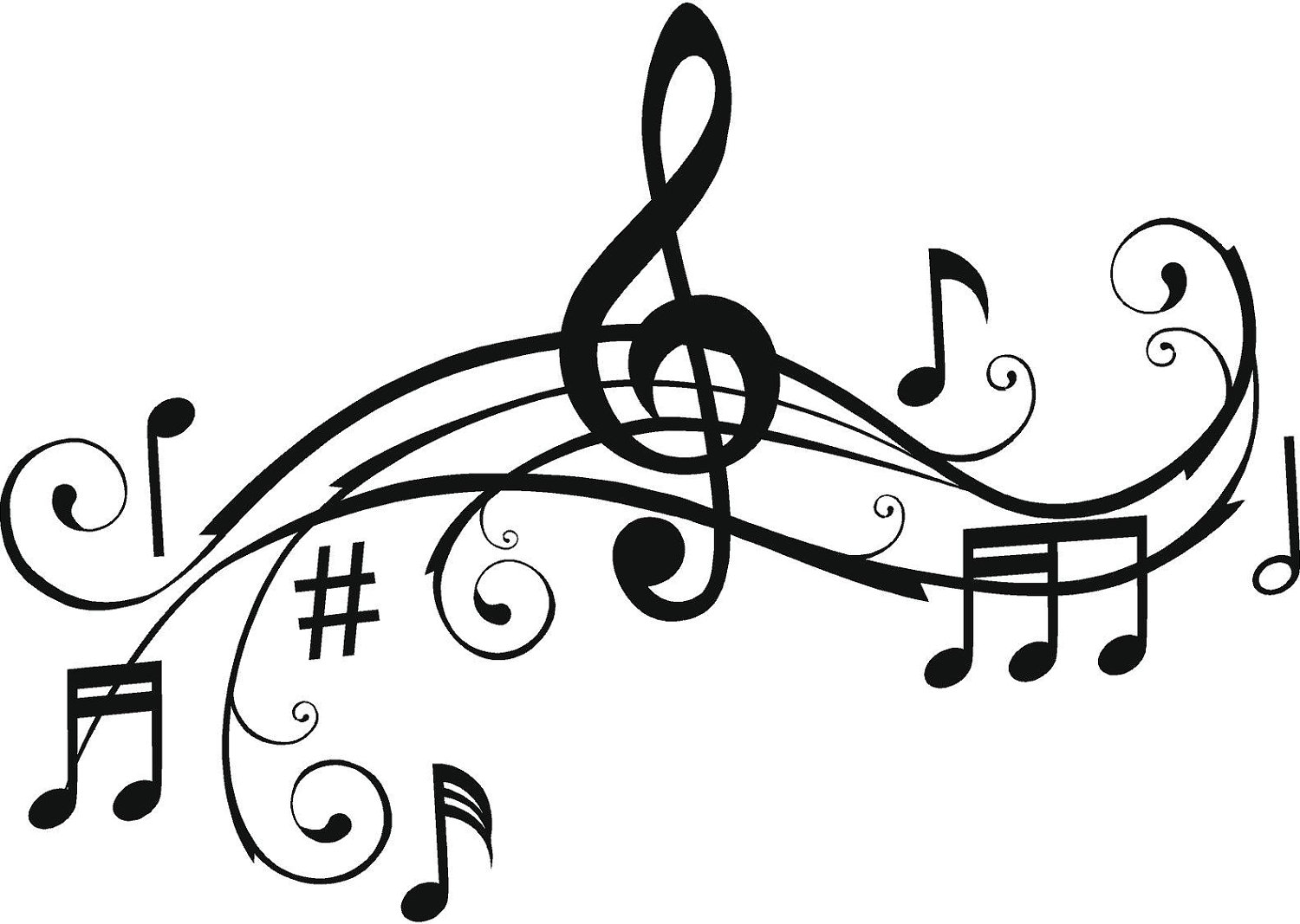 do music notes colouring pages