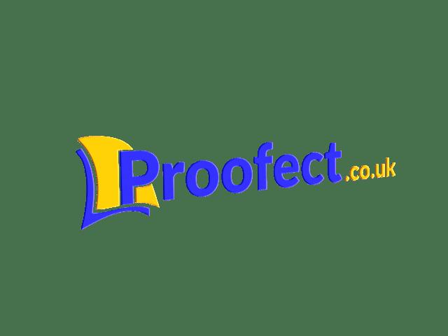 Proofect academic proofreading logo