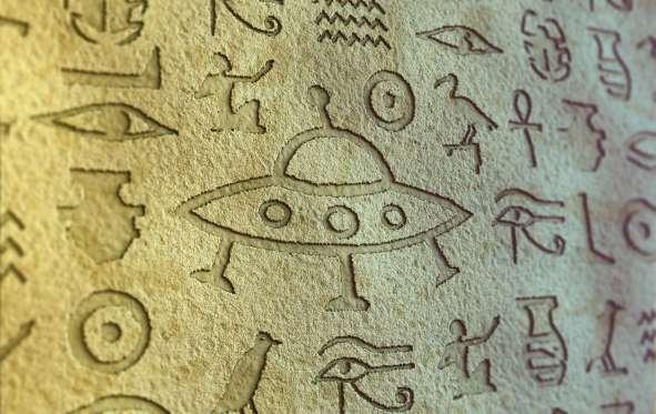 UFO Egyptian Alien Hieroglyphics