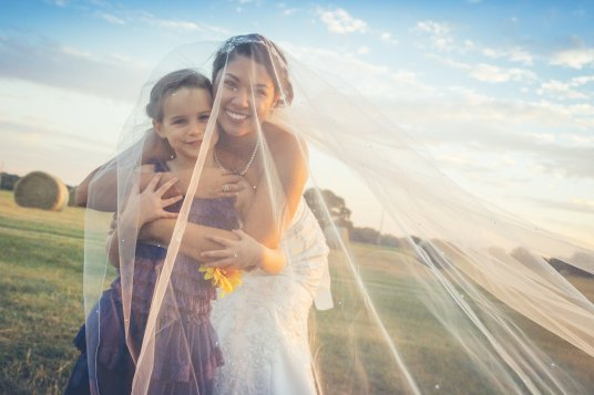 Bride and Flower Girl Photo DFW
