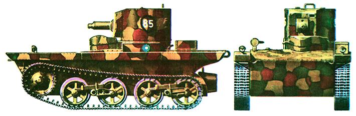 Английский танк-амфибия Виккерс-Карден-Лойд А4Е11