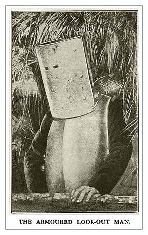 Бронированный наблюдатель. Попытки создать бронежилет, эффективный и пригодный для серийного производства не прекращались во многих армиях в годы Первой мировой. Но, увы, серийные бронежилеты появились намного позже.
