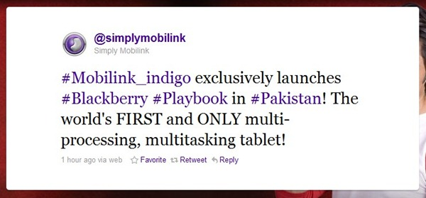 Mobilink Blackberry Playbook Mobilink Launches Blackberry Playbook in Pakistan!