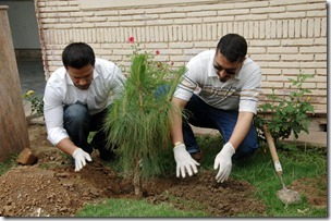 DSC 0034 thumb Ufone Volunteer Group planted trees at Policlinic for a Greener Pakistan